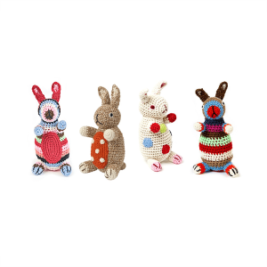 Anne-Claire Petit crocheted bunnies, all four types