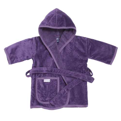 baby bathrobe in purple