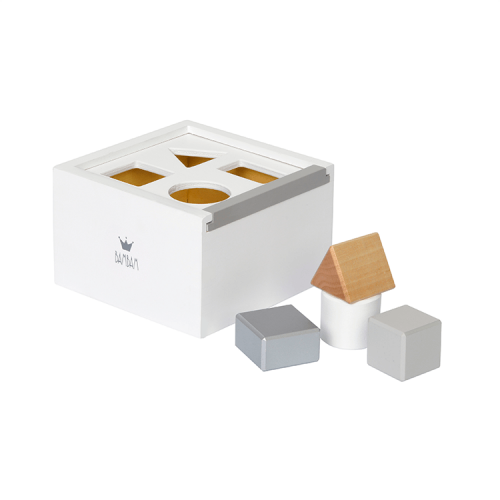 bambam wooden block box: blocks in the right shapes