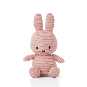 'My first Miffy' soft toy in pink made of corduroy fabric