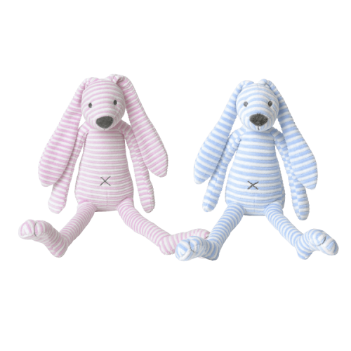Happy Horse Rabbit Reece in pink/white & blue/white striped