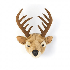 Wall ornament in plush: Deer (front)