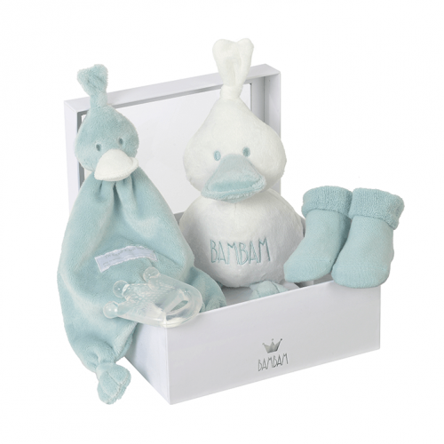 BamBam gift box mint green, with tuttle, cuddle, socks and teether