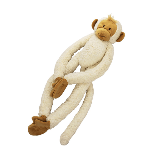 Happy Horse Hanging Monkey knuffel in gebroken wit