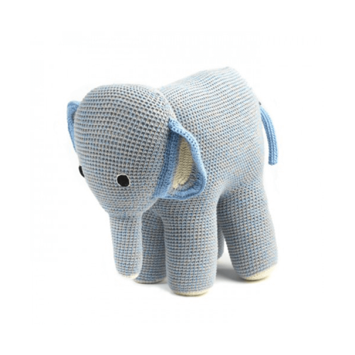 Anne Claire Petit - crocheted large elephant in light blue