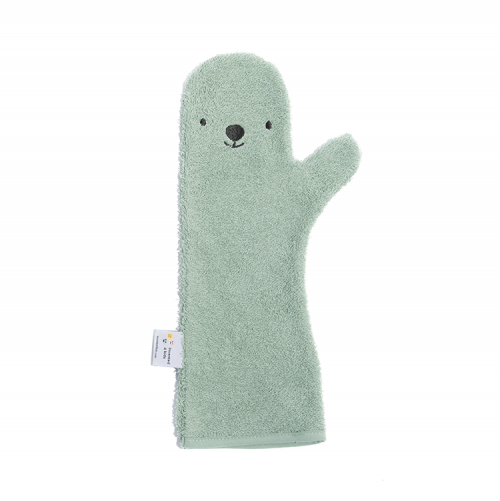 Baby Shower Glove, bear in groen