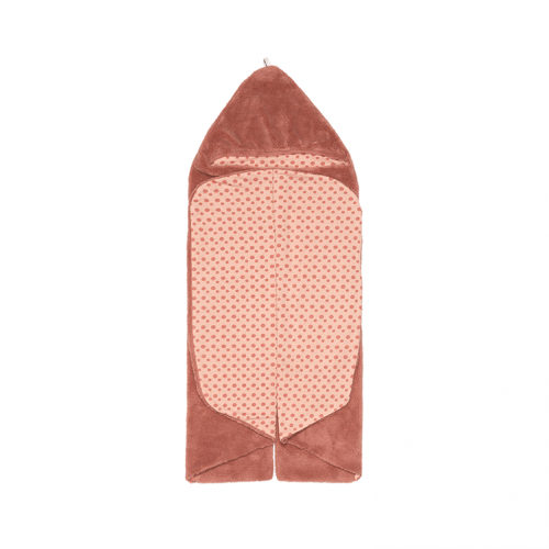 Snoozebaby wrap blanket in dusty rose (pink/red)