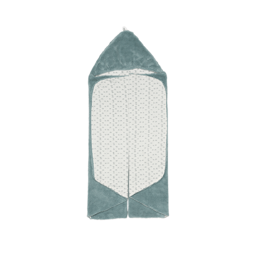 Snoozebaby wrap blanket in gray mist (gray/green)